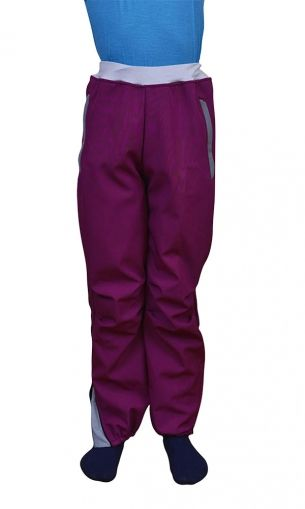 Pantaloni ski copii, softshell, mov